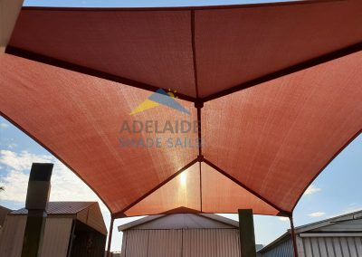Hip and Ridge Structure Shade Sail