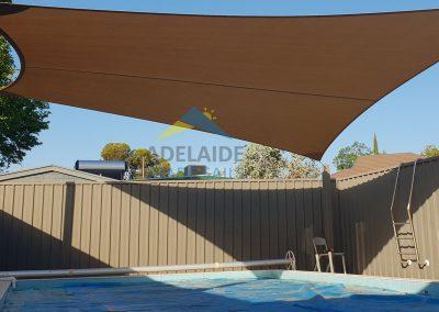 Chocolate z16 Pool Shade Sail